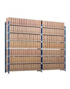 Etagere archives métallique pour le stockage de vos boites de dossiers