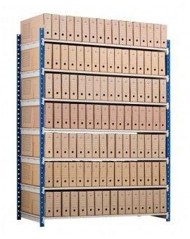 Étagère métal pour boîtes d'archives
