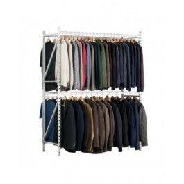 Rayonnage textile : portique avec cintres