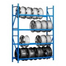 Rayonnage métal et support pneu et jantes