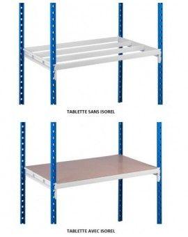 Plaque d'isorel pour ajouter des plateaux à l'étagère en métal