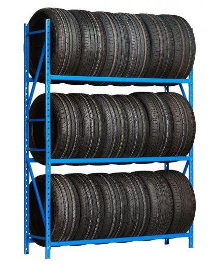 Rayonnage léger métallique pour le stockage de pneus