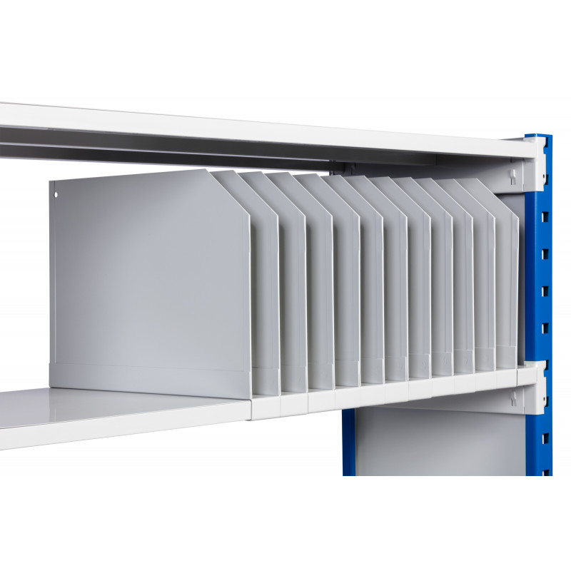 Séparateur pour rayonnage métallique léger