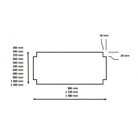 Dimensions de la plaque d'isorel pour le rayonnage à étagère