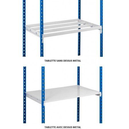 Accessoires de rayonnage métallique dessus en tole