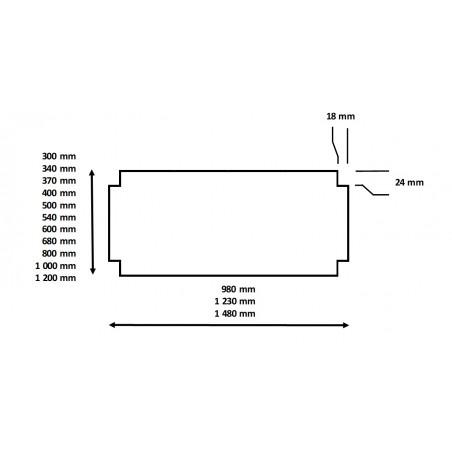 Dimensions du dessus grilles pour étagère