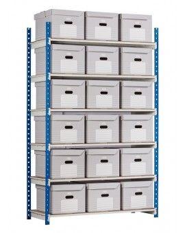 Rayonnages archives pour stockage de boites d'archives