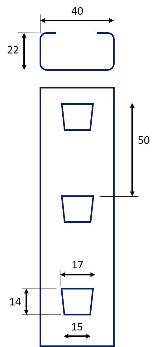 Perforation des poteaux